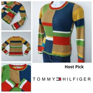 Tommy Hilfiger Knitted Sweater 😍 Colorful & Warm